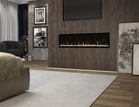 """Item # XLF60, 60"""" Ignite XL Lineaer Electric Fireplace On"""