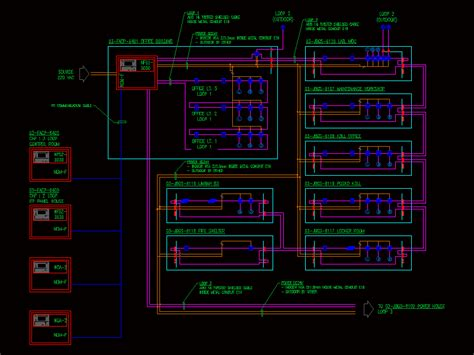 Fire Protection Diagram DWG Block for AutoCAD • Designs CAD
