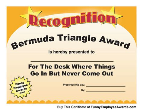 Fun Certificate - Funny Award Certificates | Is there