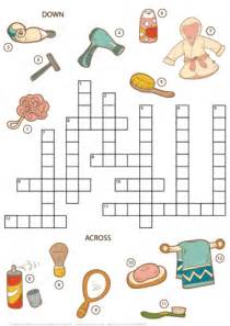 Crossword Puzzle for Girls - Beauty and Bathroom Items