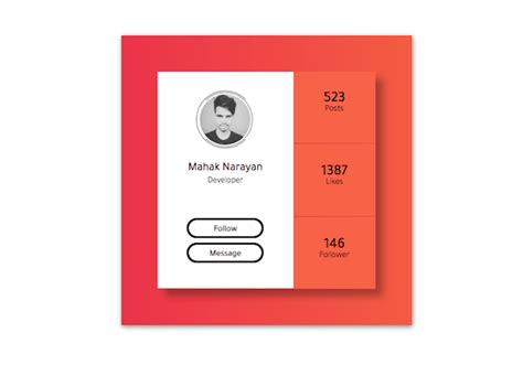 10 Awesome CSS Profile Cards - New To Design