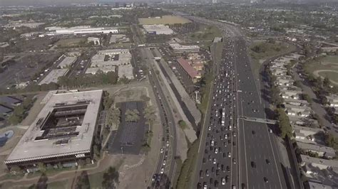 Aerial View over the 405 Freeway in Fountain Valley - YouTube