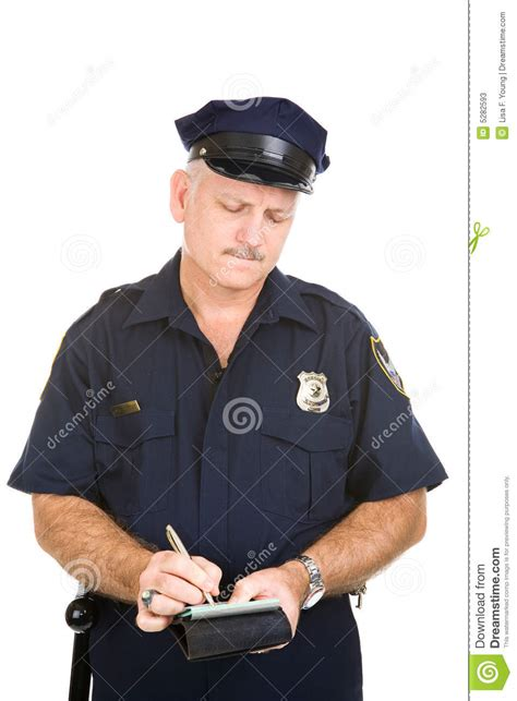 Police Officer - Parking Ticket Stock Photos - Image: 5282593