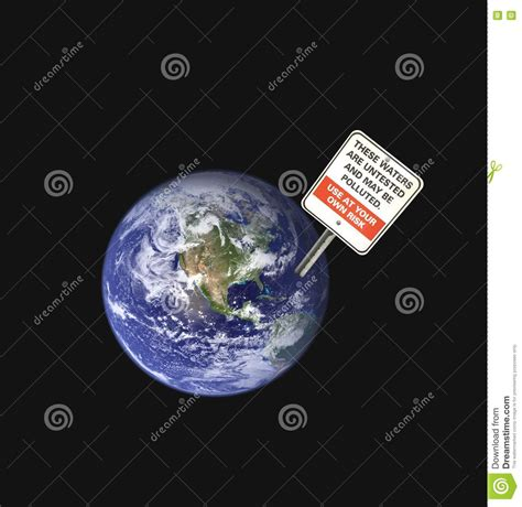 Earth pollution stock image