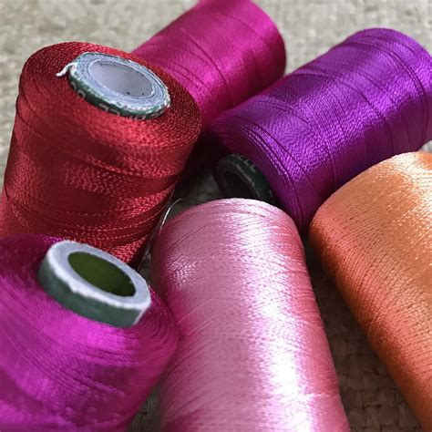 Assorted Shades of Pink Art Silk Embroidery Threads Spools