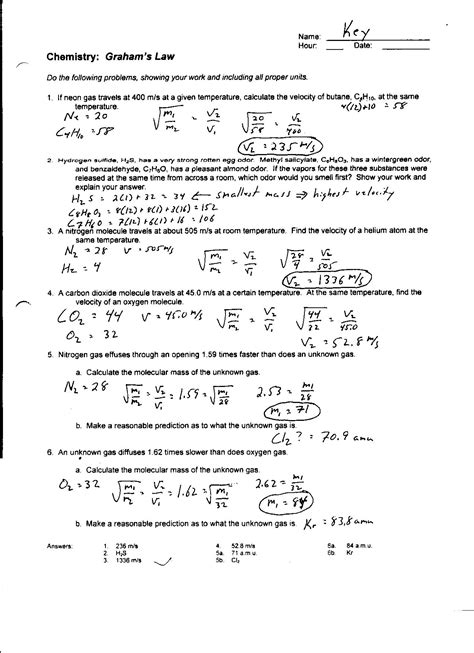 Ideal Gas Law Problems With Solution + mvphip Answer Key