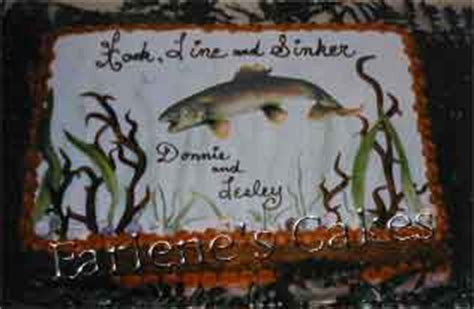 Cakes with fishing themes