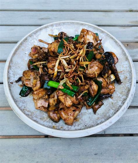 Cambodian-Style Chicken and Mushroom with Ginger Recipe