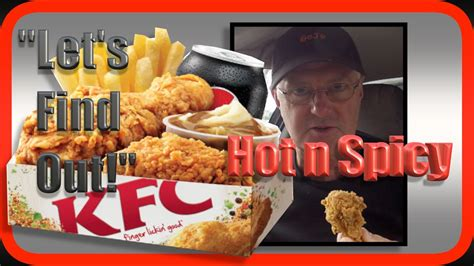 KFC Hot n Spicy $5 Lunch Box Food Review - YouTube