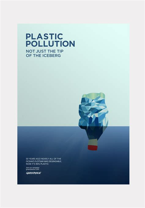 Plastic Pollution Poster on Behance