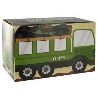 Bag-of-Chips Green & Brown Army Truck Favor Boxes | Shop