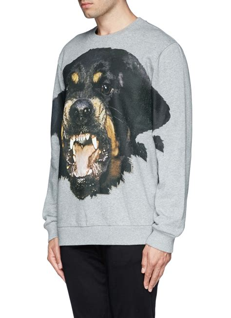 Givenchy Rottweiler Print Sweatshirt in Gray for Men | Lyst